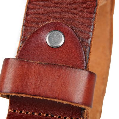 Durable Vegetable Leather Belt-Buttom