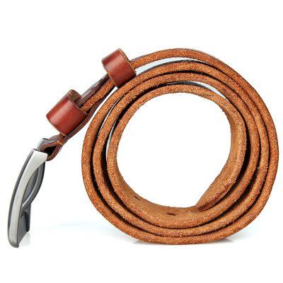 Durable Vegetable Leather Belt-Side