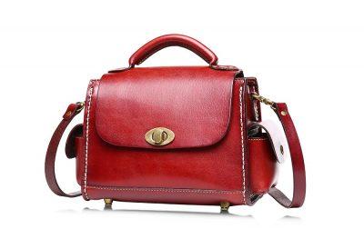 Fashion Women's Leather Satchel-Left