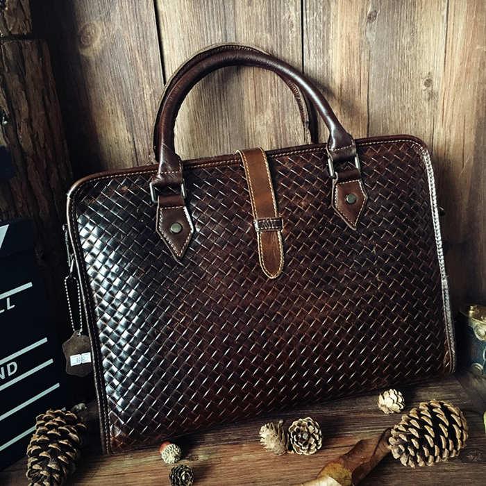 Gadget Leather Briefcase