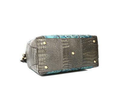 Green Shell Type Leather Handbag-Bottom