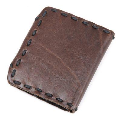 Handmade Leather Wallet Pocket Purse-Back
