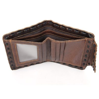Handmade Leather Wallet Pocket Purse-Front