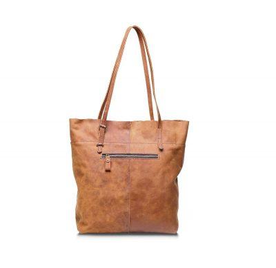 Handmade Vintage Leather Tote-Back