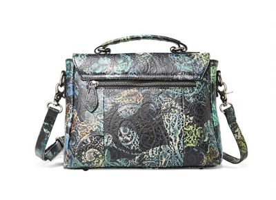 Leather Handbag Shoulder Bag Crossbody Bags-Back