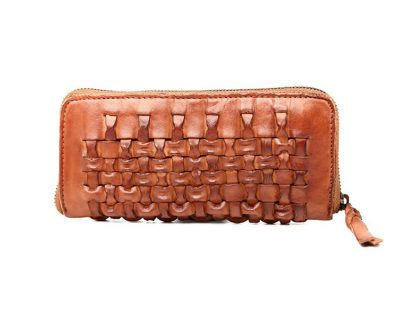 Long Vegetable Tanned Leather Purse-Right