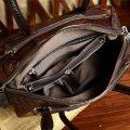 Shell Type Leather Handbag-Inside
