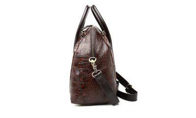 Shell Type Leather Handbag-Left