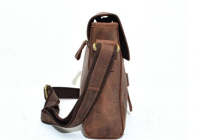 Top Quality Hard Leather Satchel For Lady-Side