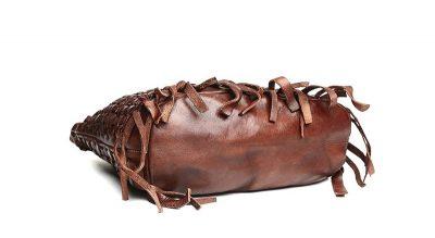 Vegetable Tanned Leather Handbag-Bottom