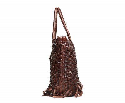 Vegetable Tanned Leather Handbag-Left