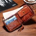 Vegetable Tanned Leather Purse-Inside