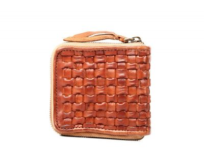 Vegetable Tanned Leather Purse-Side