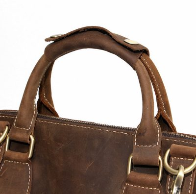 Vintage Leather Satchel-Handle