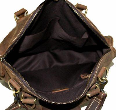 Vintage Leather Satchel-Inside