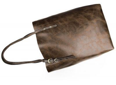 Vintage Leather Tote Shoulder Bag-Left