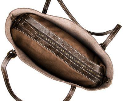 Vintage Leather Tote Shoulder Bag-Top