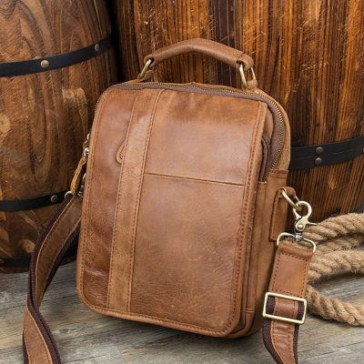 green beans large capacity leather backpack