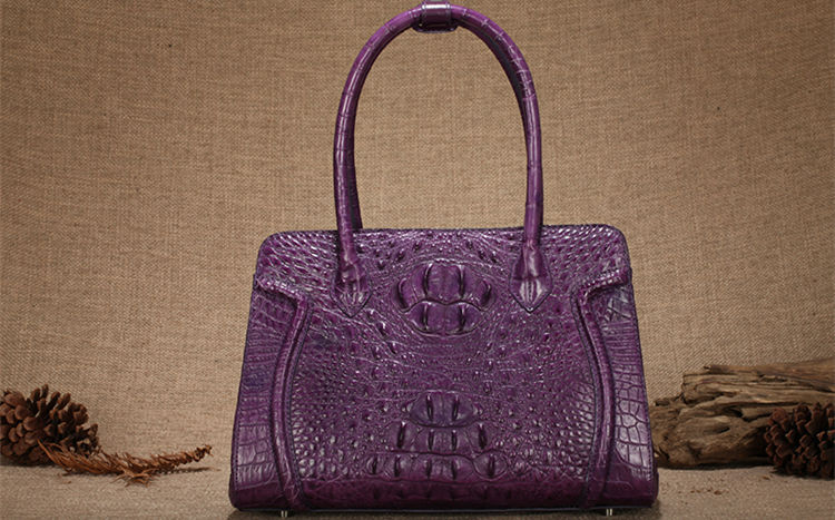 Alligator handbag for women