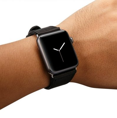 Black Apple Watch Strap-Exterior