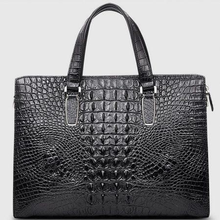 Casual Genuine Crocodile Bag,Crocodile Laptop Bag for Men-Back