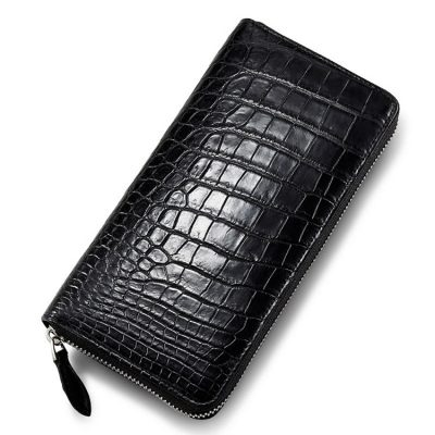 Classic Black Genuine Crocodile Wallet