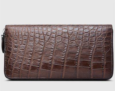 Classic Brown Genuine Crocodile Wallet-Left