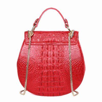 Crocodile Evening Handbag, Crocodile Wrist Bag-Back