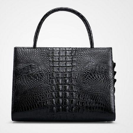 Elegant Genuine Crocodile Handbag-Back