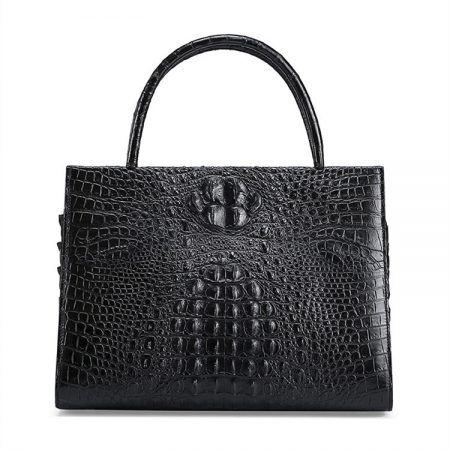 Elegant Genuine Crocodile Handbag-Front