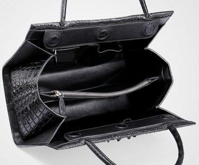 Elegant Genuine Crocodile Handbag-Inside