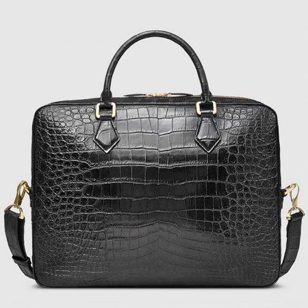 Fashion Crocodile Bag, Luxury Crocodile Briefcase for Men-Back