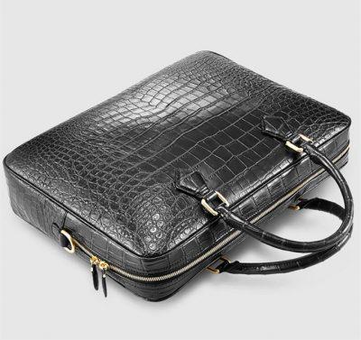 Fashion Crocodile Bag, Luxury Crocodile Briefcase for Men-Top