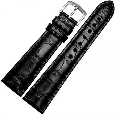 Genuine Alligator Leather Watch Band-Black