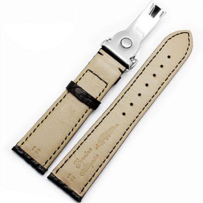 Handmade Genuine Alligator Leather Watch Band-Back
