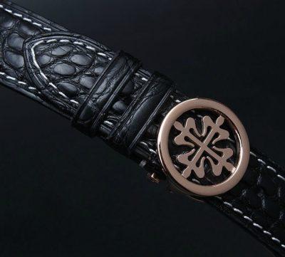 Handmade Genuine Alligator Leather Watch Band-Detials