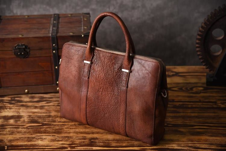 Handmade Leather Briefcases,Leather Briefcase for Men and Women
