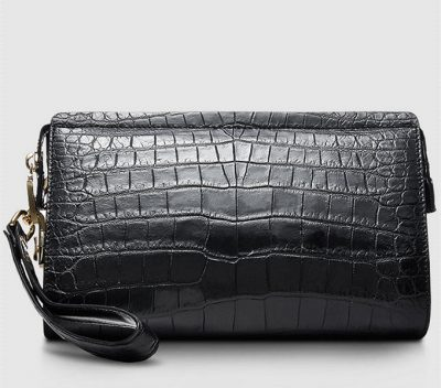Large Genuine Crocodile Wallet-Back