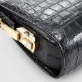 Large Genuine Crocodile Wallet-Zipper