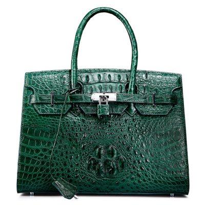 Luxury Green Genuine Crocodile Handbag