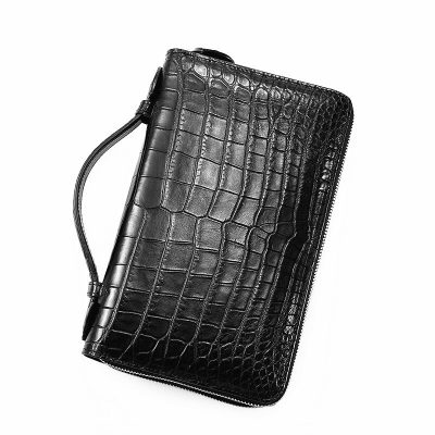 Mens Crocodile Clutch Bag, Large Crocodile Wallet
