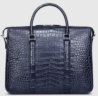 Mens Fashion Crocodile Bag-Blue-Front