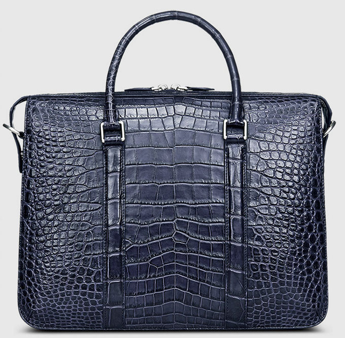 Men S Fashion Crocodile Bag Luxury Crocodile Laptop Bag