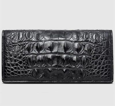 Mens Genuine Crocodile Wallet-Front