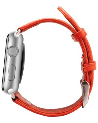 Red Leather Apple Watch-Side