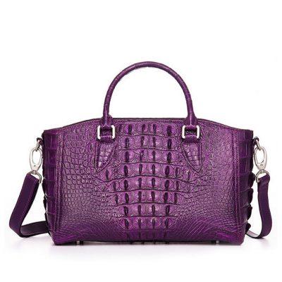Stylish Crocodile Shoulder Bag, Crocodile Purse Handbag-Back