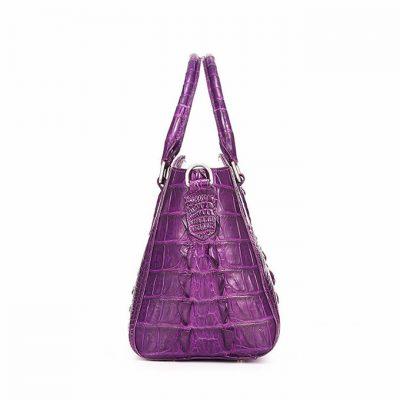 Stylish Crocodile Shoulder Bag, Crocodile Purse Handbag-Side