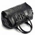 Stylish Crocodile Skin Barrel Bag-2