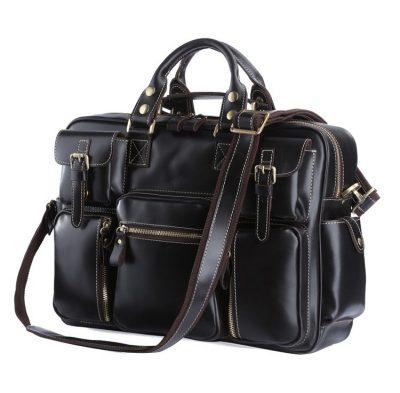 Black Leather Briefcase