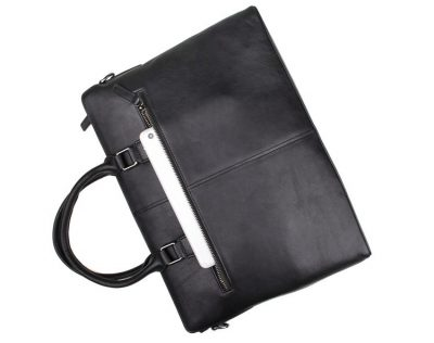 Casual Leather Briefcase, Leather Business Bag-Pocket